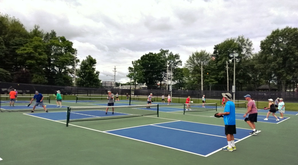 Pickleball Players Enjoying the Outdoor Courts.