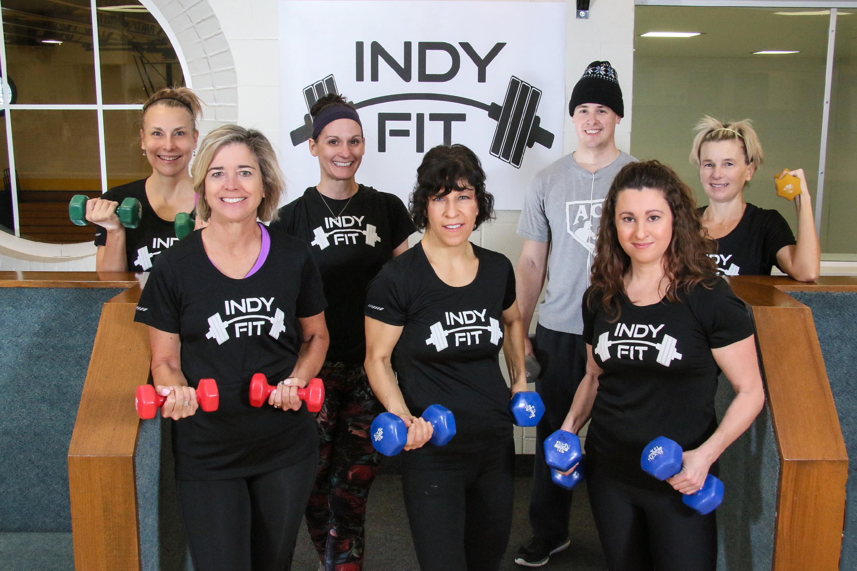 "Adults taking part in the City's ""Indy Fit"" Aerobics Wellness Program."