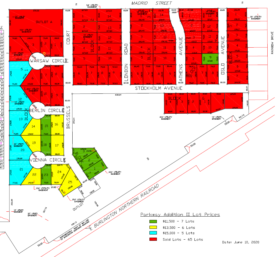 2020_06_10 Parkway II Lot Price Map