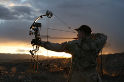Picture of person bowhunting
